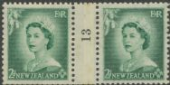 NZ Counter Coil Pair SG 726 1953 2d Queen Elizabeth II Join No. 13 (NCC/183)